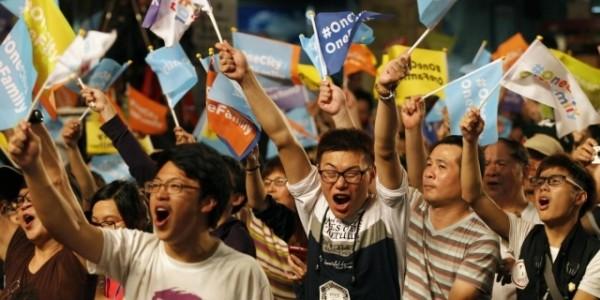 Taiwan folla elettori fb