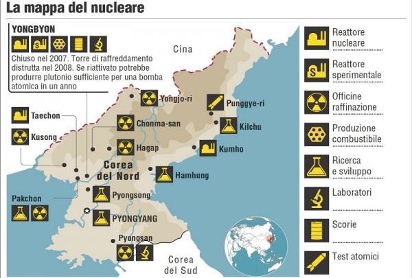corea del nord - impianti - nucleare - 800