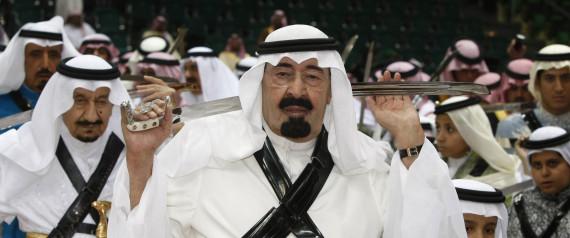 Il precedente monarca saudita Abdullah Aziz