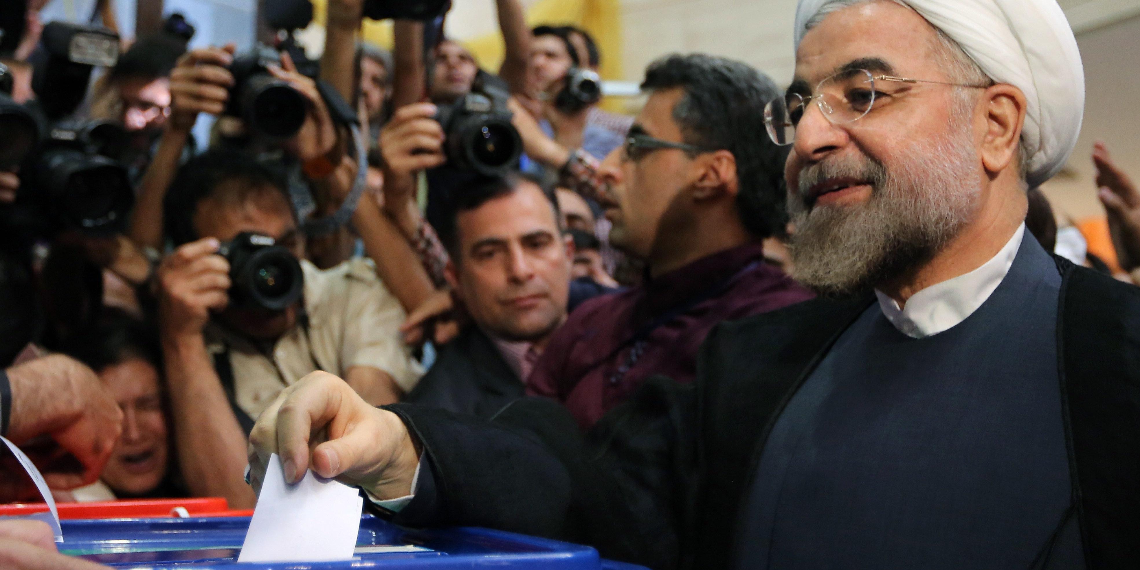 Il Presidente Rohani al seggio