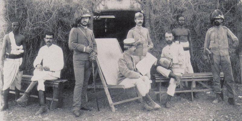 Una rara fotografia dello Stato maggiore italiano ad Adua