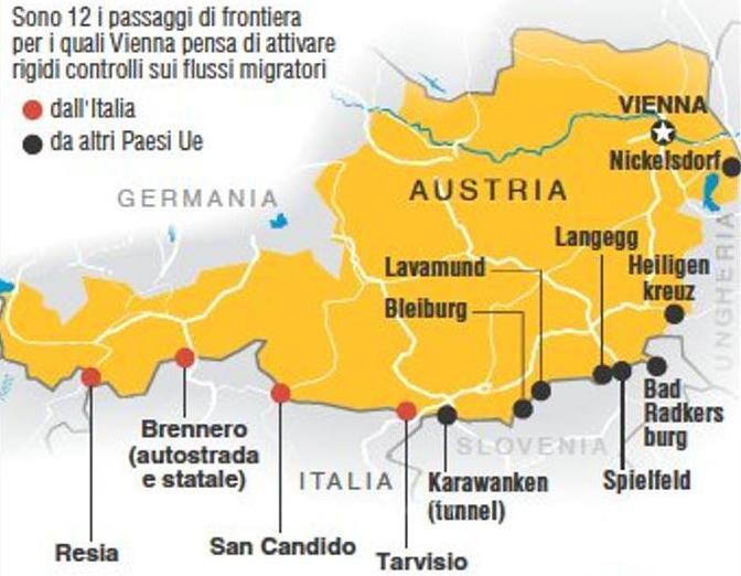 Cartina Del Austria.Austria Barriere E Soldati Al Brennero Per Gli Umori Neri Dell Elettorato