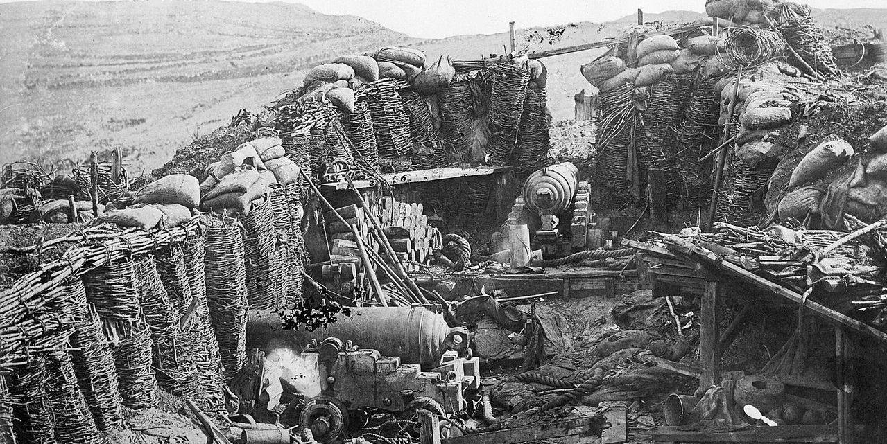 Foto di una postazione Russa della battaglia del 'Grand Redan'
