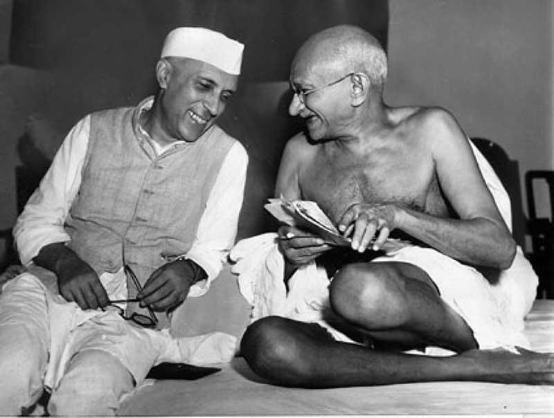 Gandhi e Nehru