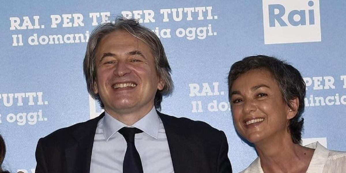 Il Dg Rai Campo Dall'Orto e la direttora di Rai3 Daria Bignardi