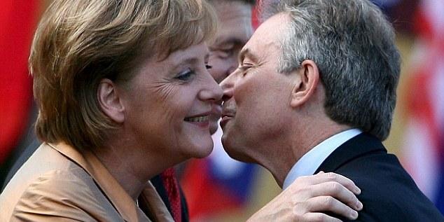 Angela Merkel and Prime Minister Blair