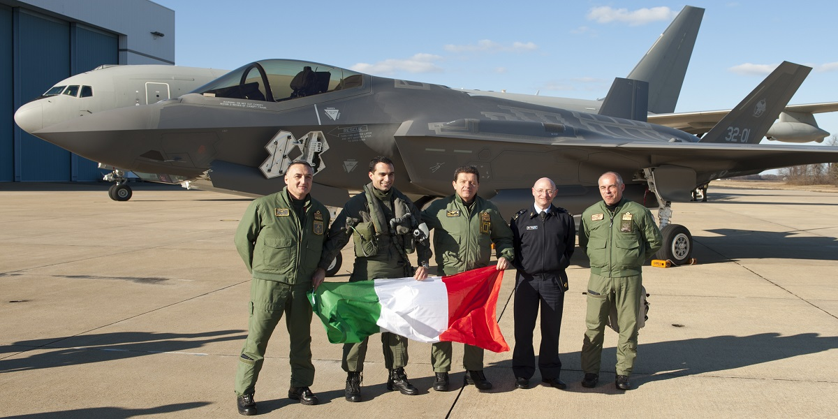 Italian F-35A Lightning II pilot makes aviation history, completes first trans-Atlantic Ocean crossing
