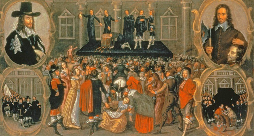 Parlamento inglese, la monarchia e i pessimo consiglieri. Allora, tra 1629 e il 1651, Re Carlo I voleva fare la guerra alla Scozia e chiuse e riaprì il Parlamento a suo presunto vantaggio. Carlo I fu decapitato il 30 gennaio 1649. 'Parlamento sovrano' e sovrani mal consigliati alle prese col Parlamento. Tipo lo spregiudicato e avventurista BoJo Jhonson che la testa l'ha persa nello spingere la Regina Elisabetta ad offendere il Parlamento attuale. Copertina, Triplo ritratto di Carlo I, opera di Antoon van Dyck.