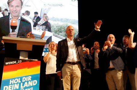 'Profondo est' della Germania nero e l'astensione svolta a destra