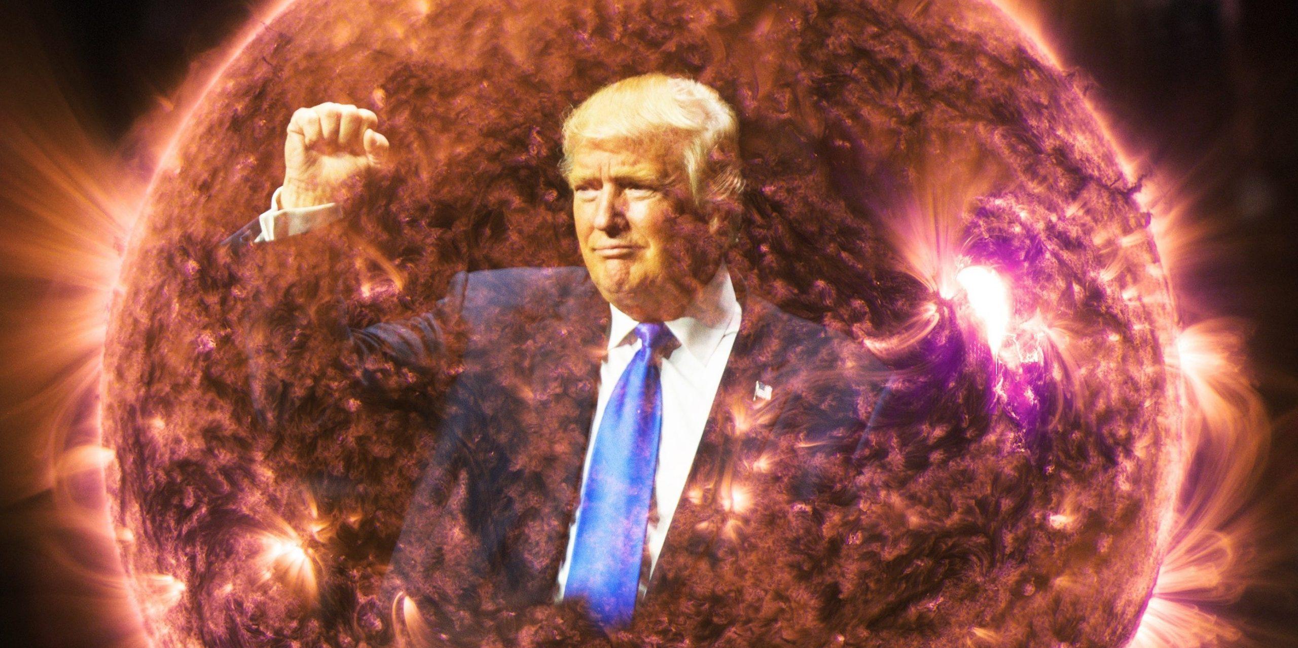 Pistolero spaziale Trump sotto tiro spara anche agli extraterrestri