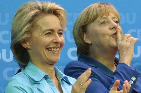 Angela e Ursula al volante della 'safety car' sul circuito Ue dopo l'incidente Covid