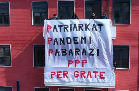 Donne d'Albania rivolta delle «tre P»: Patriarkat, Pandemi e Pabarazi, diseguaglianze.