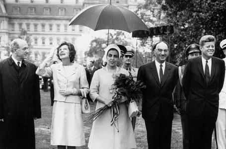 K'allora Re dell'Afghanistan Zair acconto al presidente americano Kennedy